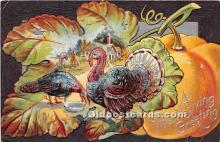 hol061368 - Thanksgiving Old Vintage Antique Postcard Post Card