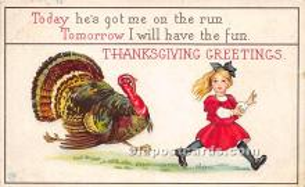 hol061369 - Thanksgiving Old Vintage Antique Postcard Post Card