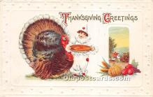 hol061371 - Thanksgiving Old Vintage Antique Postcard Post Card