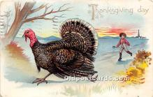 hol061376 - Thanksgiving Old Vintage Antique Postcard Post Card