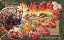 hol061377 - Thanksgiving Old Vintage Antique Postcard Post Card