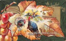 hol061380 - Thanksgiving Old Vintage Antique Postcard Post Card