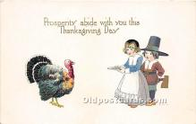 hol061381 - Thanksgiving Old Vintage Antique Postcard Post Card