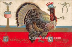 hol061383 - Thanksgiving Old Vintage Antique Postcard Post Card