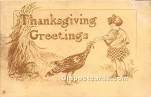 hol061384 - Thanksgiving Old Vintage Antique Postcard Post Card