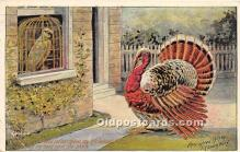 hol061385 - Thanksgiving Old Vintage Antique Postcard Post Card