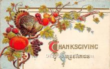 hol061386 - Thanksgiving Old Vintage Antique Postcard Post Card
