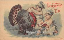 hol061390 - Thanksgiving Old Vintage Antique Postcard Post Card