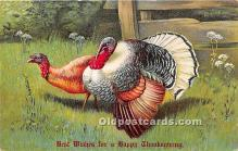 hol061393 - Thanksgiving Old Vintage Antique Postcard Post Card