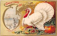hol061394 - Thanksgiving Old Vintage Antique Postcard Post Card