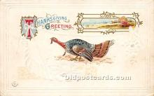 hol061395 - Thanksgiving Old Vintage Antique Postcard Post Card