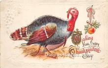 hol061396 - Thanksgiving Old Vintage Antique Postcard Post Card