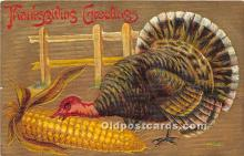 hol061397 - Thanksgiving Old Vintage Antique Postcard Post Card