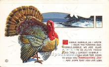 hol061398 - Thanksgiving Old Vintage Antique Postcard Post Card