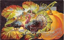 hol061407 - Thanksgiving Old Vintage Antique Postcard Post Card