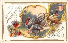 hol061408 - Thanksgiving Old Vintage Antique Postcard Post Card