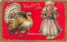hol061422 - Thanksgiving Old Vintage Antique Postcard Post Card