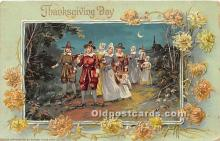 hol061425 - Thanksgiving Old Vintage Antique Postcard Post Card