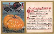 hol061429 - Thanksgiving Old Vintage Antique Postcard Post Card