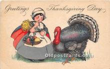 hol061435 - Thanksgiving Old Vintage Antique Postcard Post Card