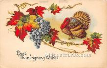 hol061437 - Thanksgiving Old Vintage Antique Postcard Post Card