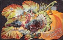 hol061441 - Thanksgiving Old Vintage Antique Postcard Post Card