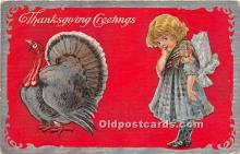 hol061442 - Thanksgiving Old Vintage Antique Postcard Post Card