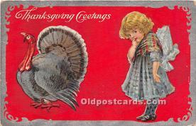 hol061442 - Thanksgiving Old Vintage Antique Postcard Post Card