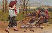 hol061443 - Thanksgiving Old Vintage Antique Postcard Post Card