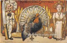 hol061444 - Thanksgiving Old Vintage Antique Postcard Post Card