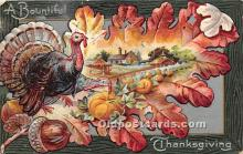 hol061445 - Thanksgiving Old Vintage Antique Postcard Post Card