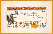 hol061447 - Thanksgiving Old Vintage Antique Postcard Post Card
