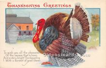 hol061449 - Thanksgiving Old Vintage Antique Postcard Post Card