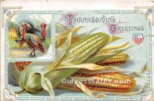 hol061454 - Thanksgiving Old Vintage Antique Postcard Post Card