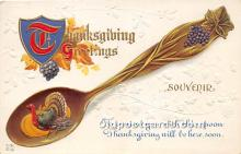 hol061455 - Thanksgiving Old Vintage Antique Postcard Post Card