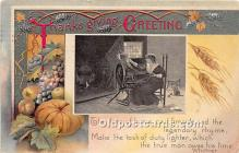 hol061456 - Thanksgiving Old Vintage Antique Postcard Post Card