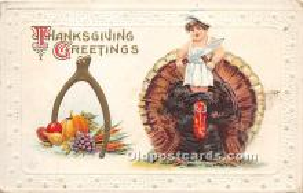 hol061458 - Thanksgiving Old Vintage Antique Postcard Post Card