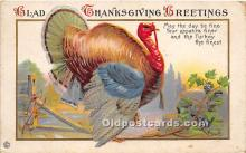 hol061459 - Thanksgiving Old Vintage Antique Postcard Post Card