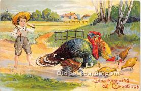 hol061461 - Thanksgiving Old Vintage Antique Postcard Post Card
