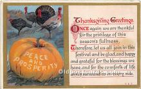 hol061462 - Thanksgiving Old Vintage Antique Postcard Post Card