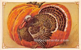 hol061464 - Thanksgiving Old Vintage Antique Postcard Post Card