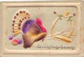 hol061465 - Thanksgiving Old Vintage Antique Postcard Post Card