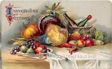 hol061466 - Thanksgiving Old Vintage Antique Postcard Post Card