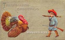 hol061468 - Thanksgiving Old Vintage Antique Postcard Post Card
