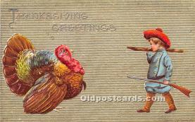 hol061468 - Thanksgiving Old Vintage Antique Postcard Post Card