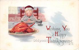hol061469 - Thanksgiving Old Vintage Antique Postcard Post Card
