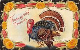 hol061471 - Thanksgiving Old Vintage Antique Postcard Post Card