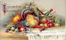 hol061472 - Thanksgiving Old Vintage Antique Postcard Post Card