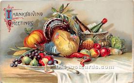 hol061472 - Thanksgiving Old Vintage Antique Postcard Post Card