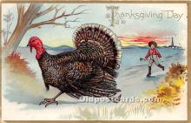hol061473 - Thanksgiving Old Vintage Antique Postcard Post Card